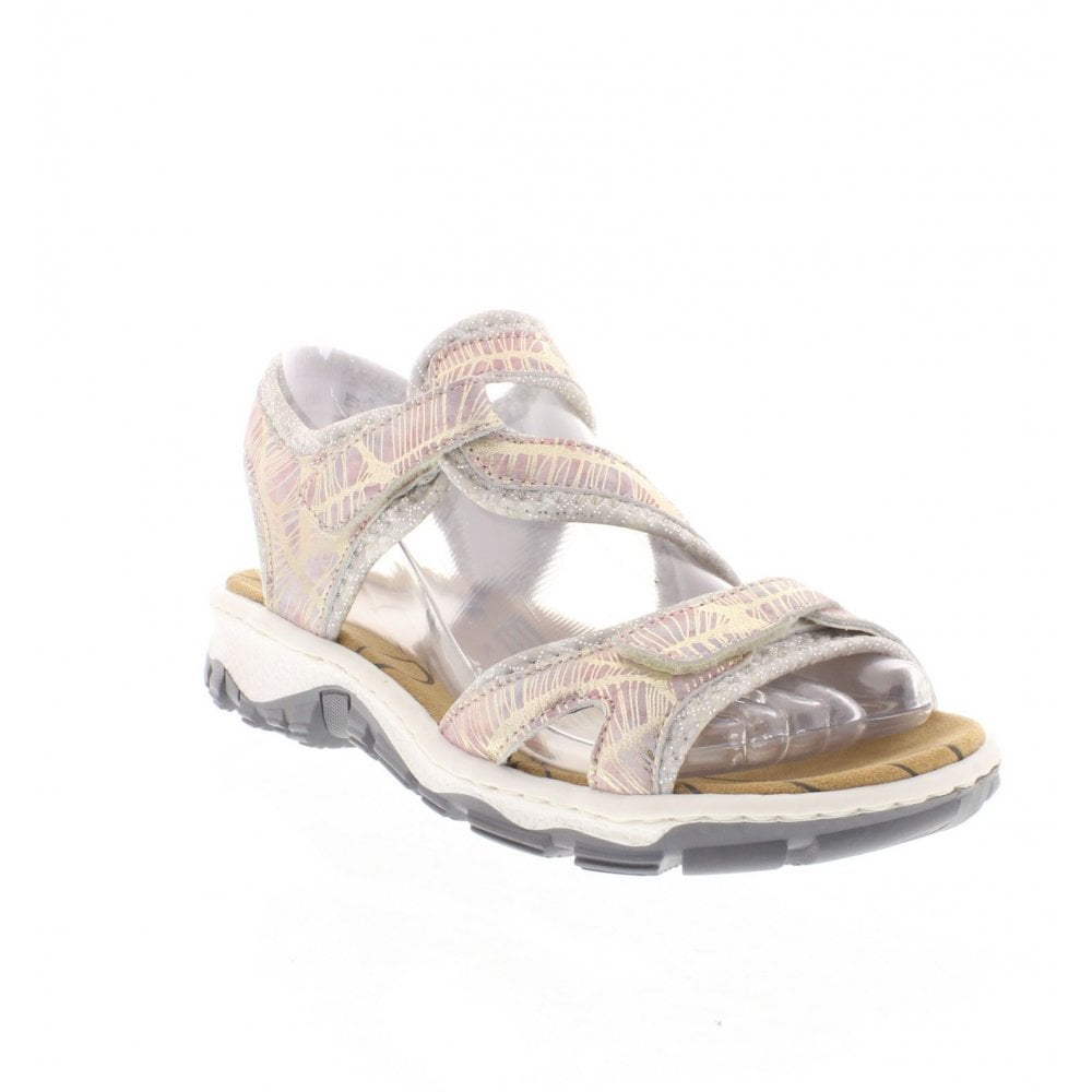 fd3ceb51fa81 Rieker 68869-90 Ladies Metallic Sandals - Rieker Ladies from Rieker UK