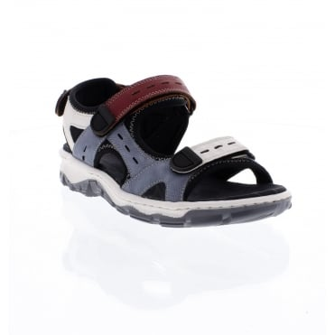 68879 14 hook and loop blue combination Ladies' sandals