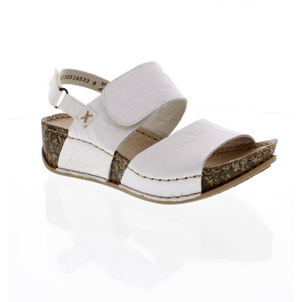 Rieker 69272-80 Ladies White Sandals