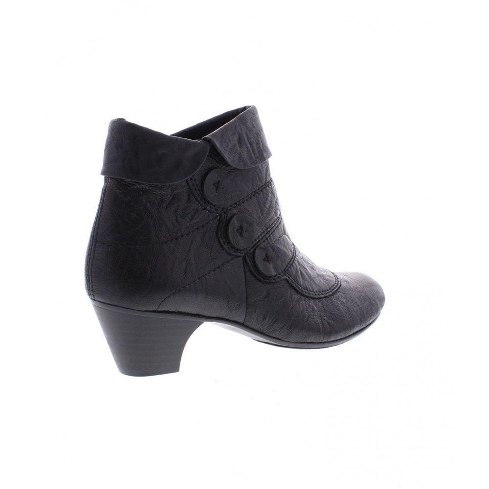 Black Up 70562 00 Boots Zip Ladies Ankle 8wm0nOvN