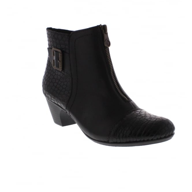 Rieker 70581-00 Womens Black Ankle Boot