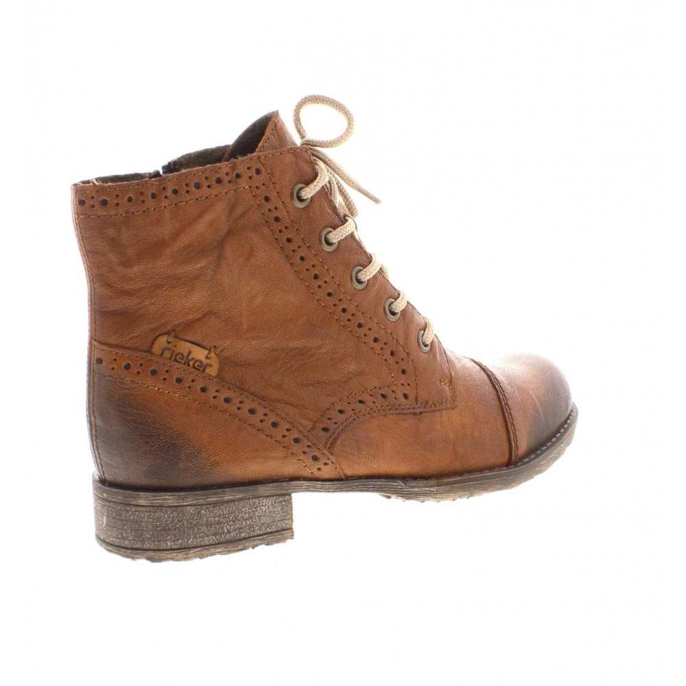 1a5925b0f6c712 Rieker 70800-22 Ladies Brown Ankle Boots - Rieker Ladies from Rieker UK