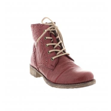 Rieker 70800-35 Ladies Red Ankle Boots e4f0785c4f