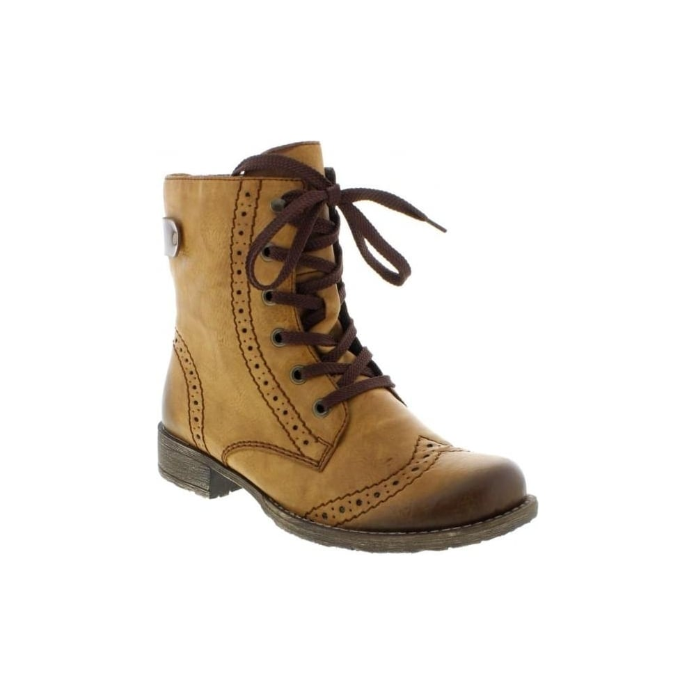 Rieker 70801 23 Ladies Brown Lace Up Boots