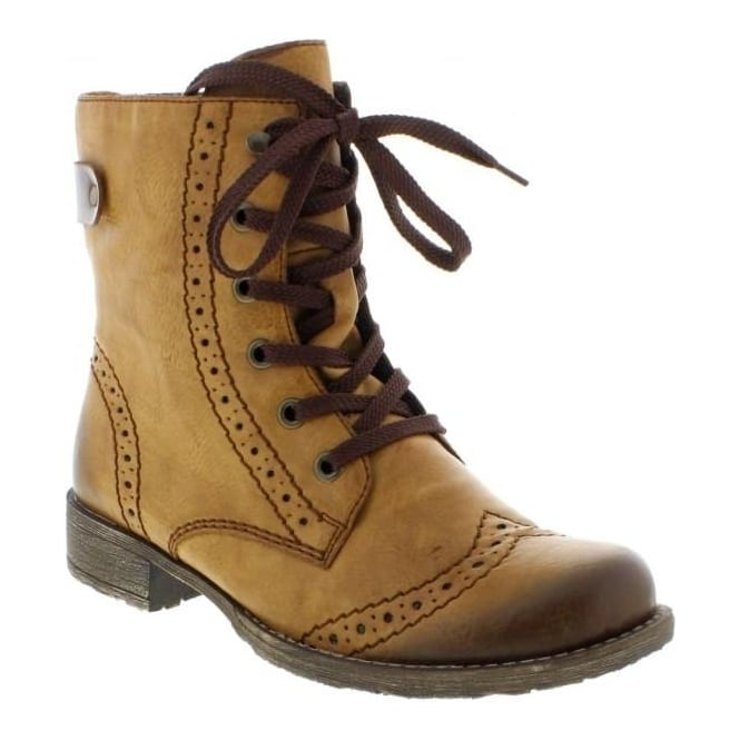Rieker 70801-23 Ladies Brown Lace Up boots