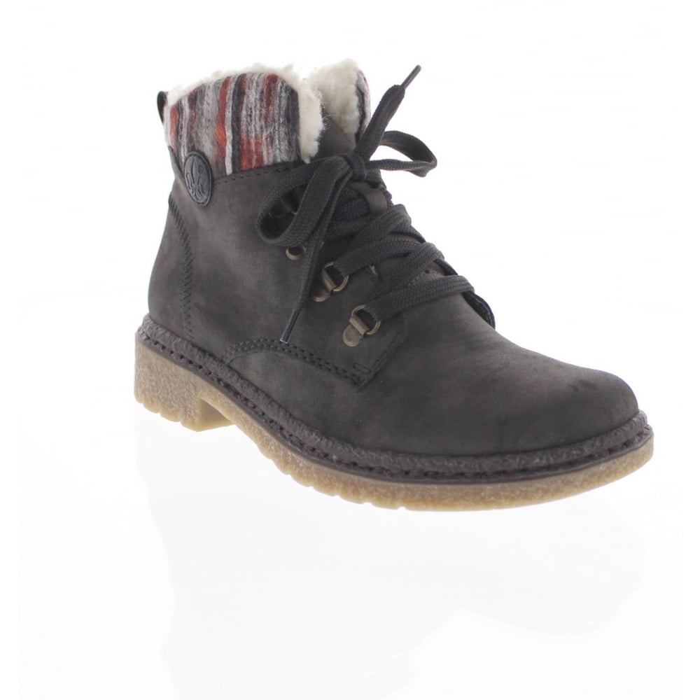 1584b1af66d9a Rieker 73222-45 Womens grey combination ankle boot - Rieker Ladies from  Rieker UK