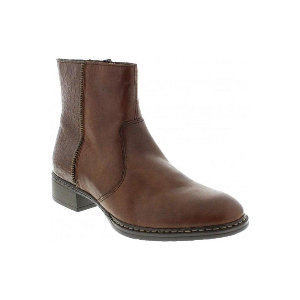 587f16193b8 73490-26 Ladies Brown Zipper boots