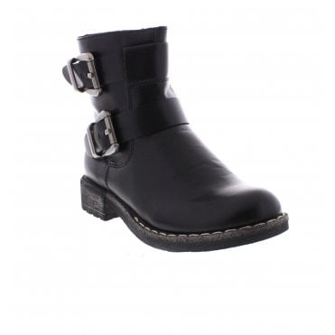 92982cec5c20cf Rieker 74659-00 Ladies Black Ankle Boots