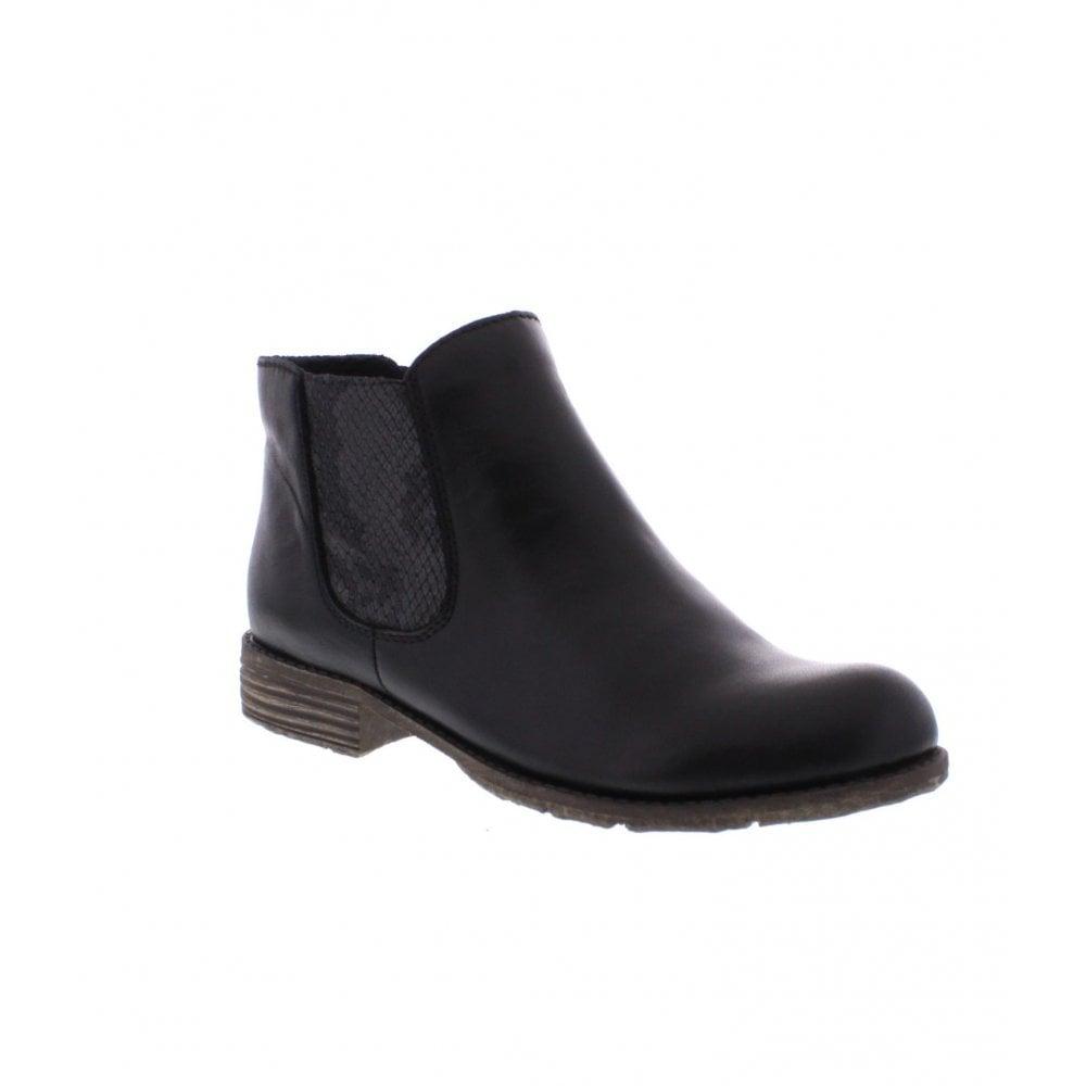 daddadc1bb3 Rieker 74786-00 Ladies Black combination boots - Rieker Ladies from Rieker  UK