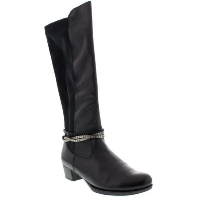 Rieker 76684-00 Ladies Black Zipper boots