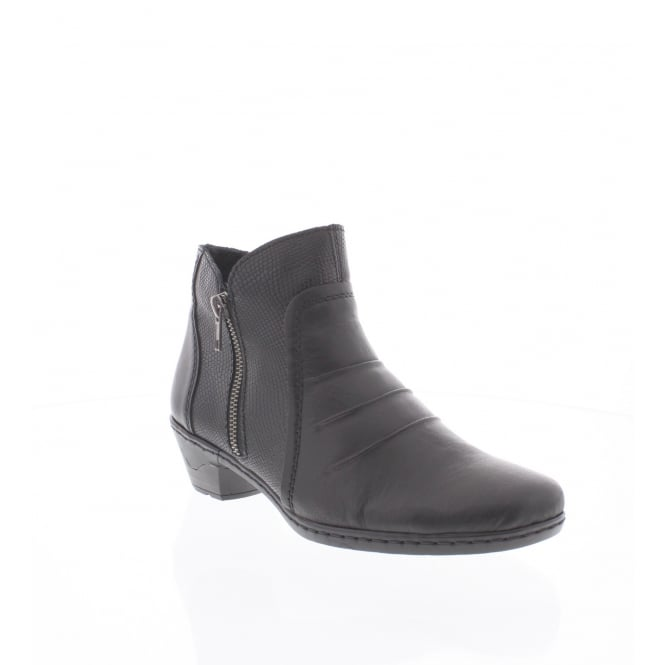 Rieker 76962-00 Womens black ankle boot