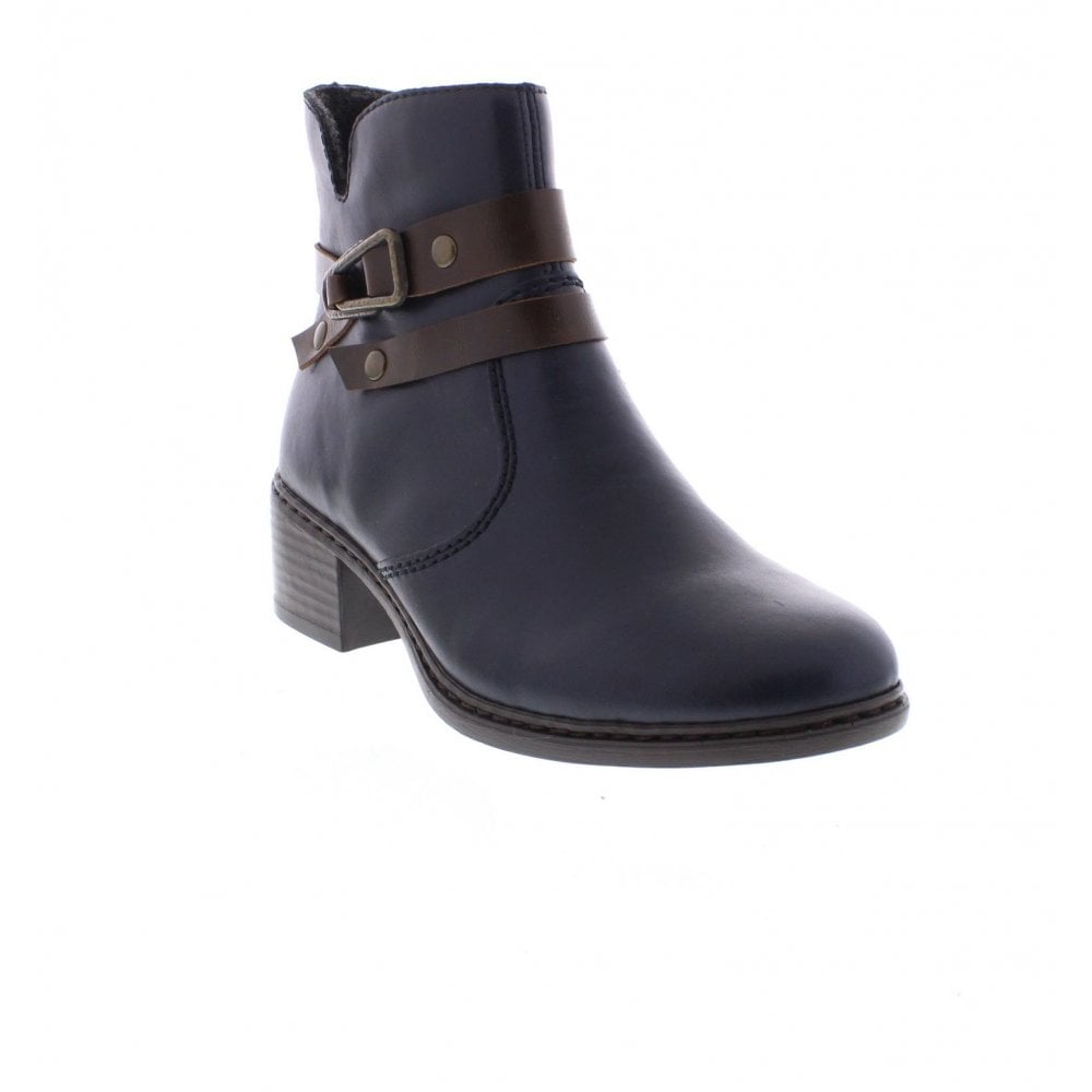 From 15 Ladies Rieker Uk Ankle 77683 Boots Blue YfqxTqw