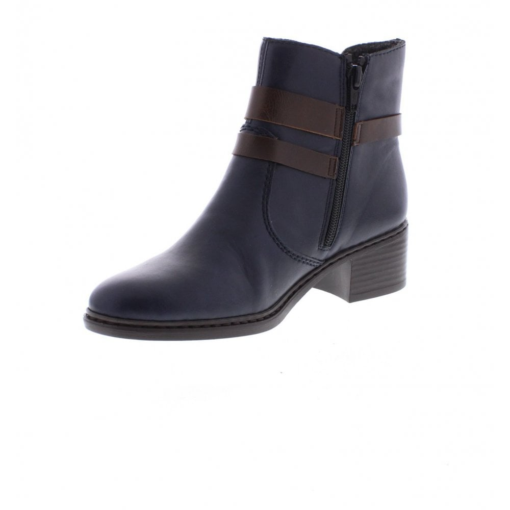 Ladies Ankle Blue 15 Rieker Boots 77683 Uk From BwAIp1OxqE