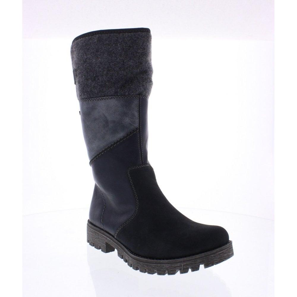 258329d5e Rieker 78572-14 Ladies Blue combination Rieker TEX boots - Rieker ...