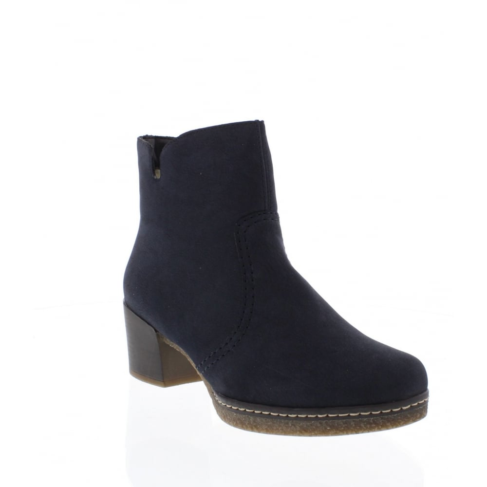 2a87f7f07de6e Rieker 79061-15 Womens blue ankle boots - Rieker Ladies from Rieker UK