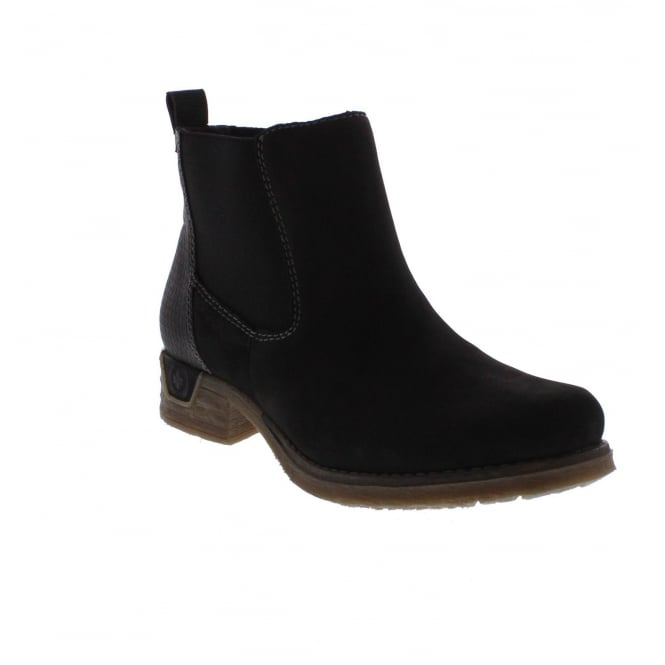 Rieker 79664-00 Womens Black Ankle Boot