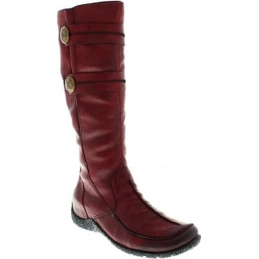Rieker 79970-36 Red Combination boot