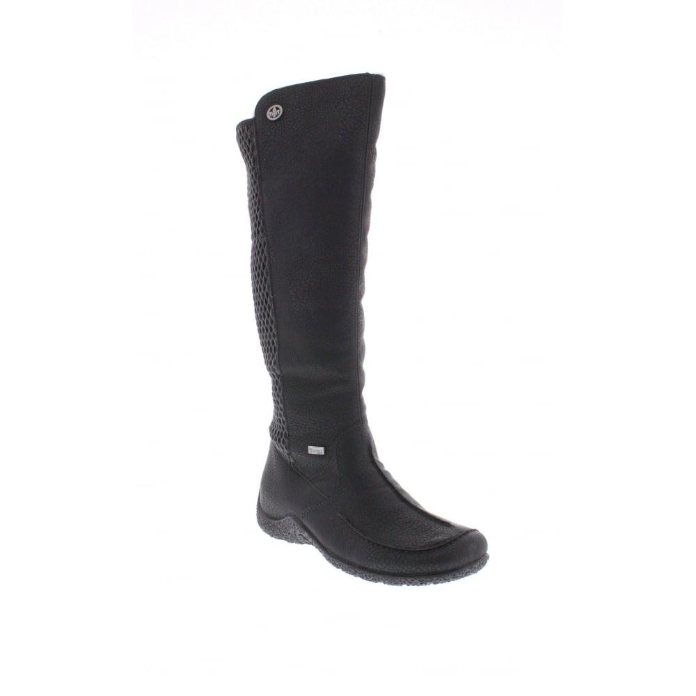 Rieker 79995-00 Ladies Black boots