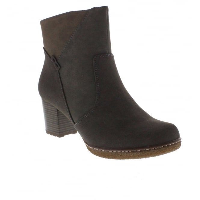 Rieker 90884-45 Womens Grey Combination Ankle Boot