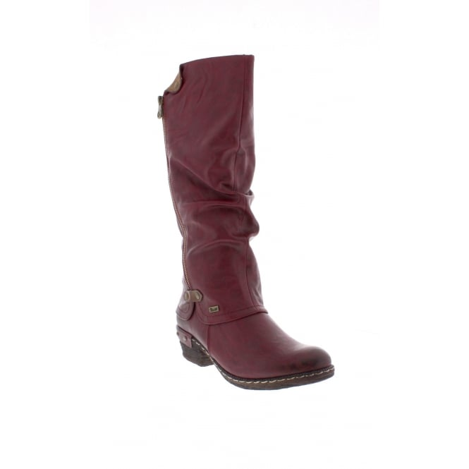 Rieker 93655-35 Womens red 'Tex' long boots