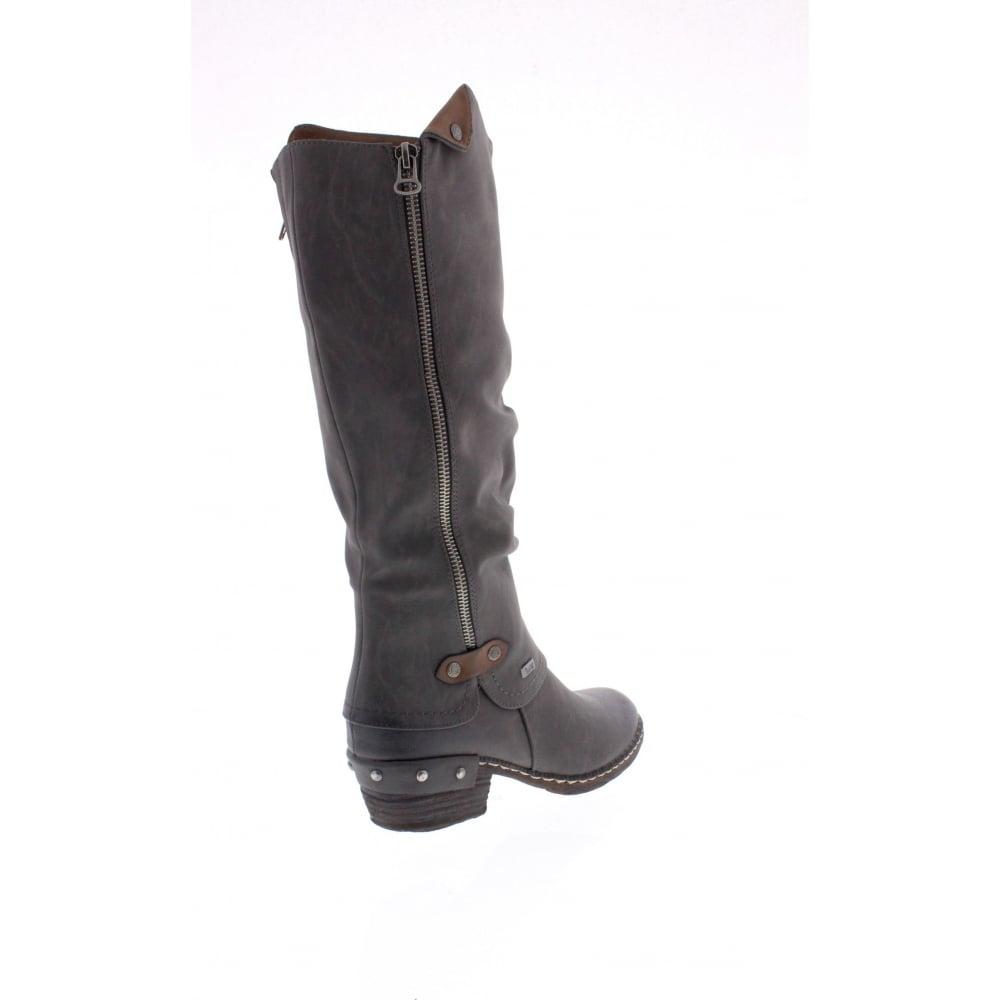 Rieker 93655-26 Ladies Tan Knee Length Zip Up Boots