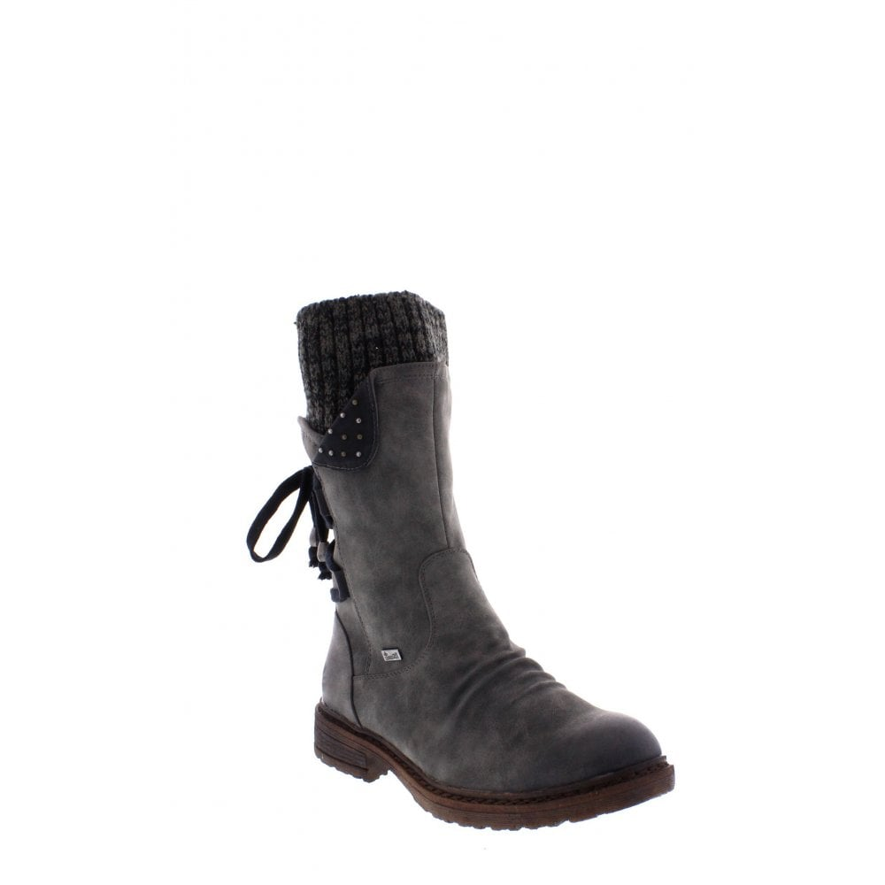 7832e34f3ac89 Rieker 94773-45 grey combination Ladies' boots - Rieker Ladies from ...