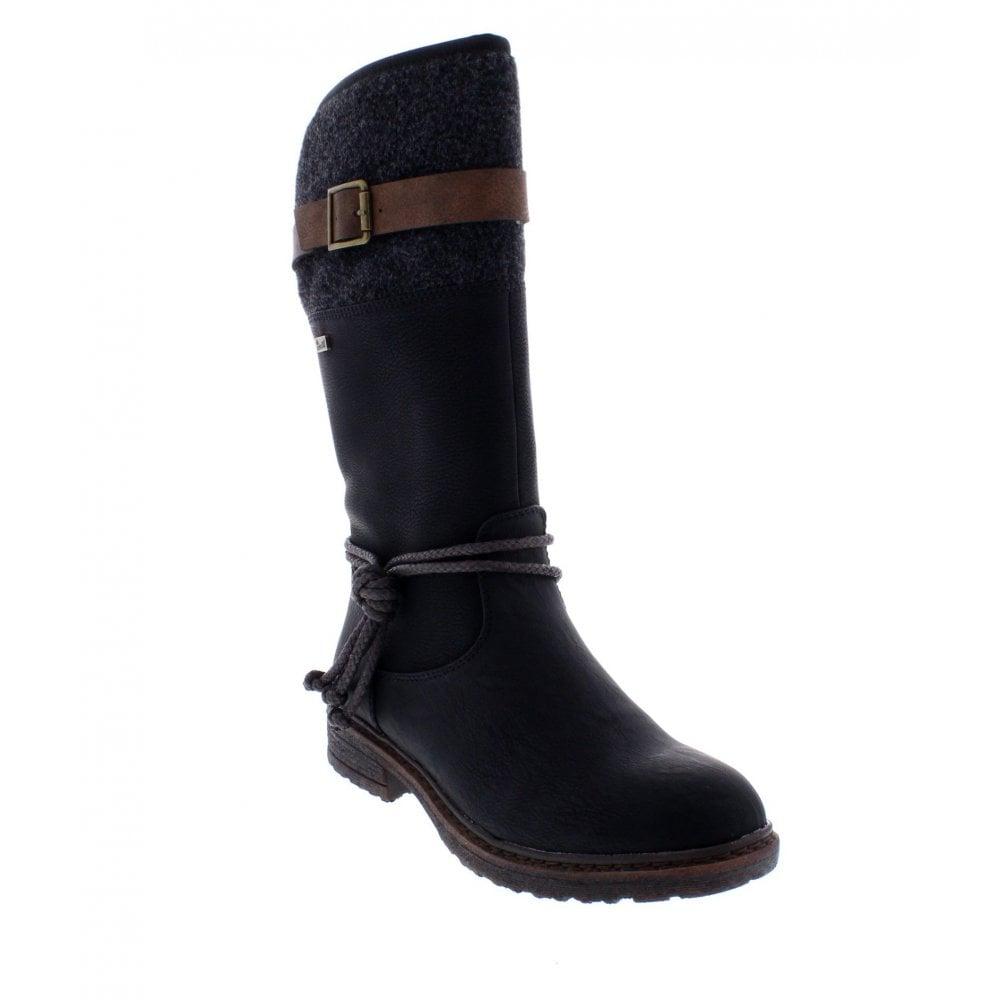 Ladies 94778 Black Zip Up 00 Boots Calf Length NwkXP80ZnO