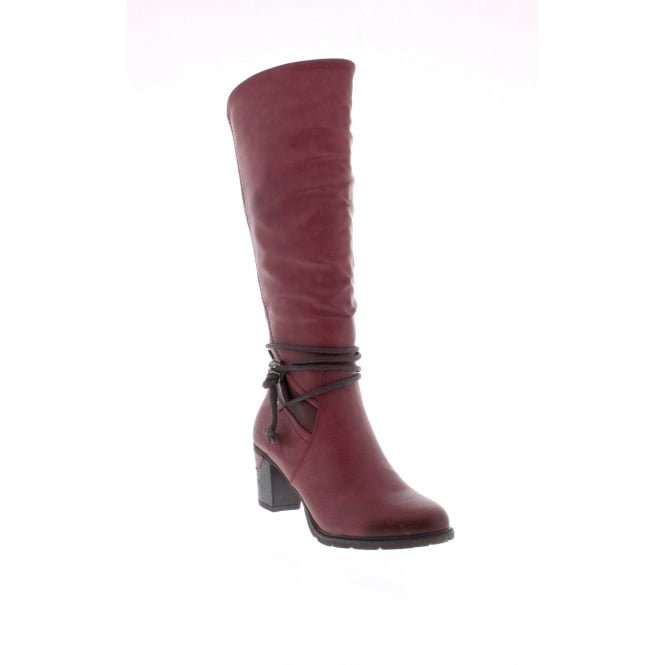 Rieker 96058-35 Womens red and burgundy combination boots