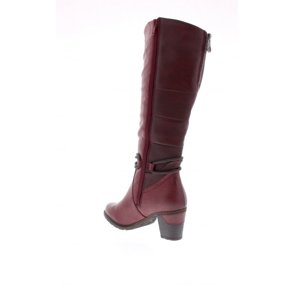 a890803b3a7 96058-35 Womens red and burgundy combination boots