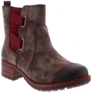 Rieker 96863-26 Ladies Brown Zipper boots