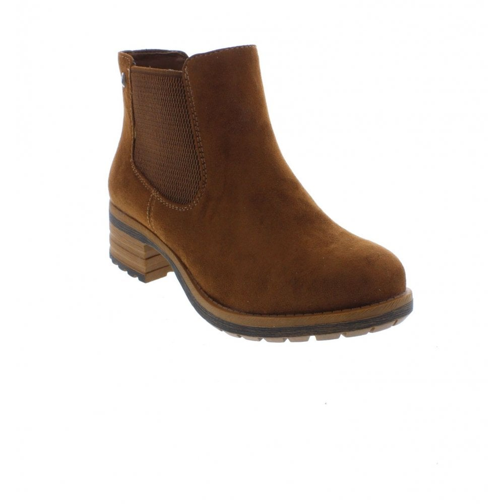 RIEKER LOW HEEL LEATHER CHELSEA ANKLE BOOTS Brown from