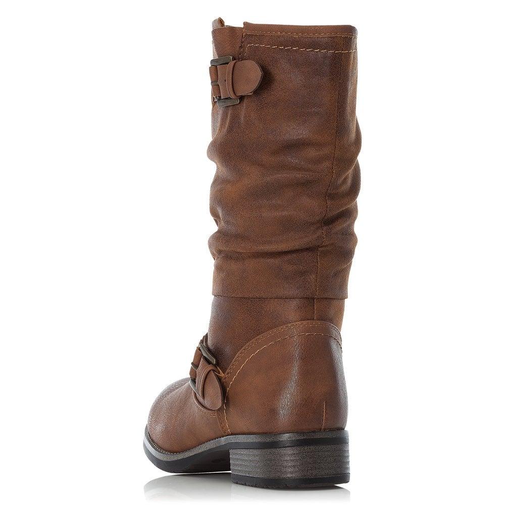 Rieker 98860-22 Ladies Brown Zip Up
