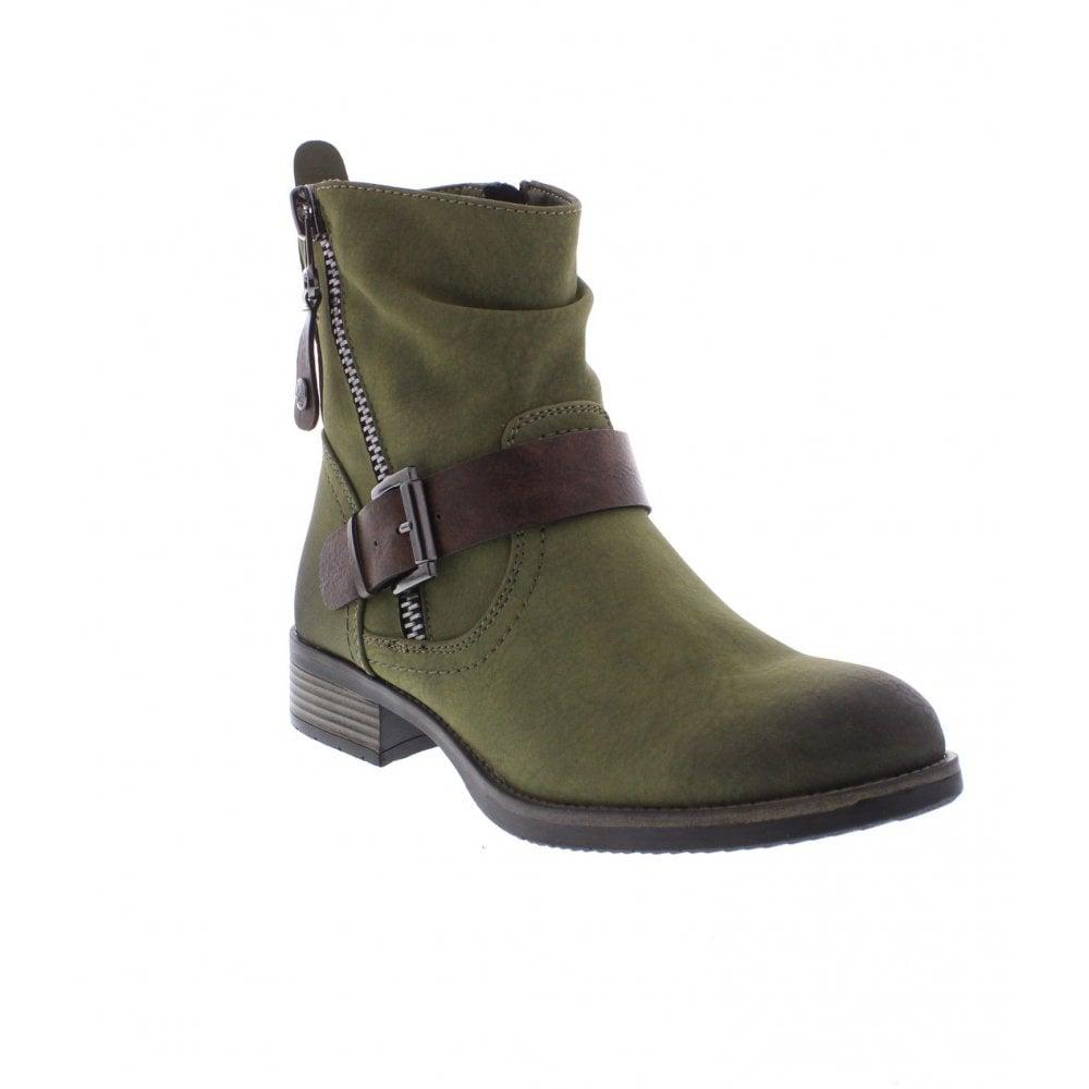 7ef8244de9685 Rieker 98870-54 Ladies Green ankle boots - Rieker Ladies from Rieker UK