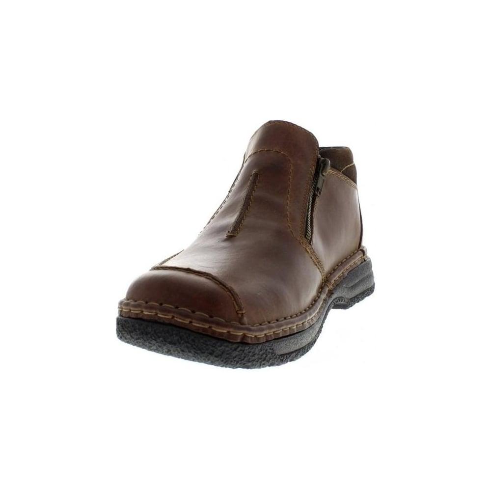 4e59252565d B0273-26 Mens Brown Zip ankleboots