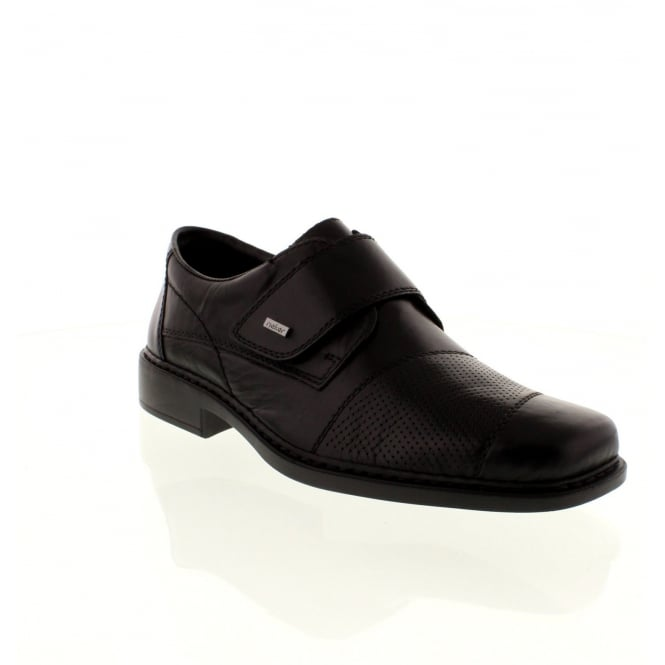 Rieker B0857-00 Mens Black Velcro shoes