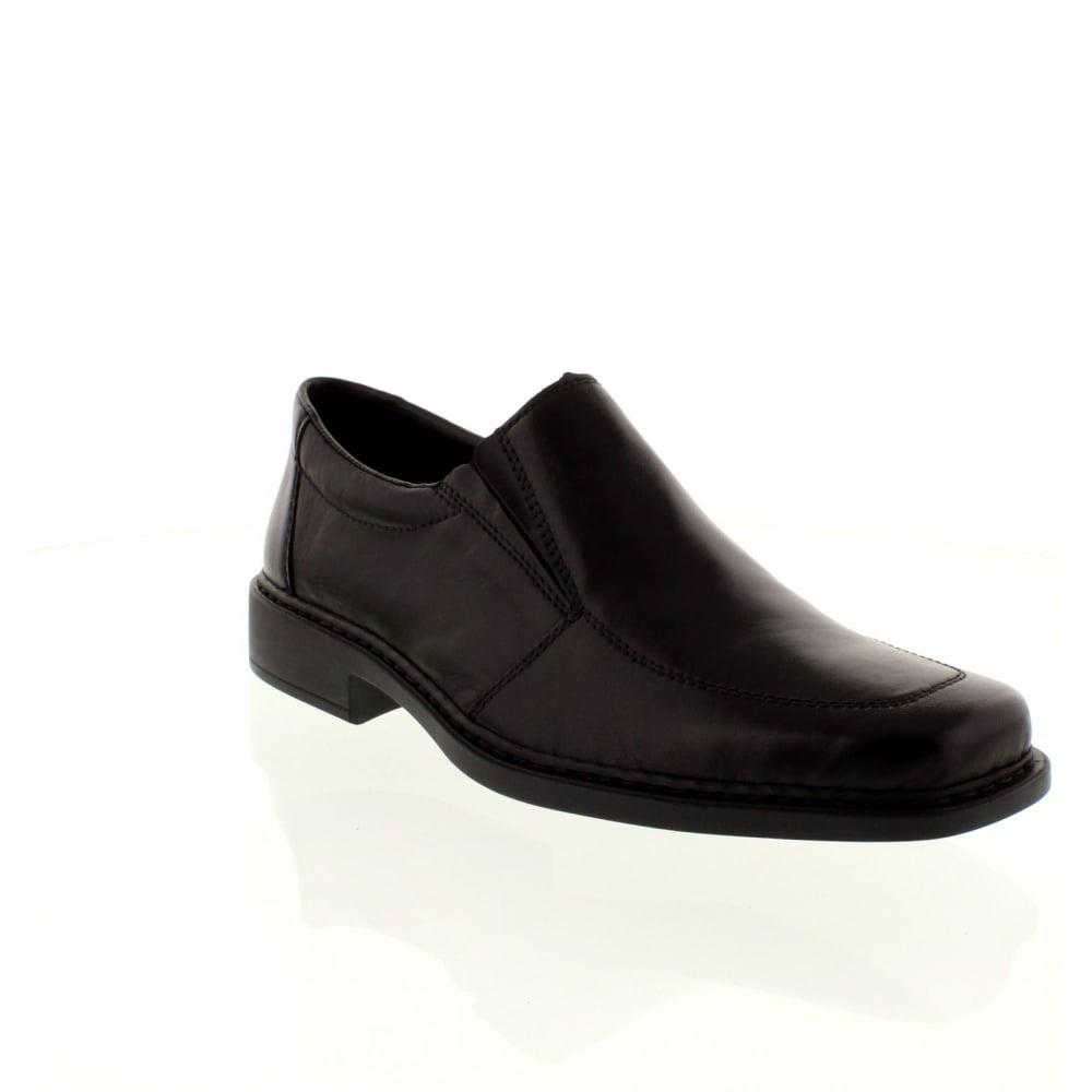 rieker b0875 00 mens black slip on shoes rieker mens