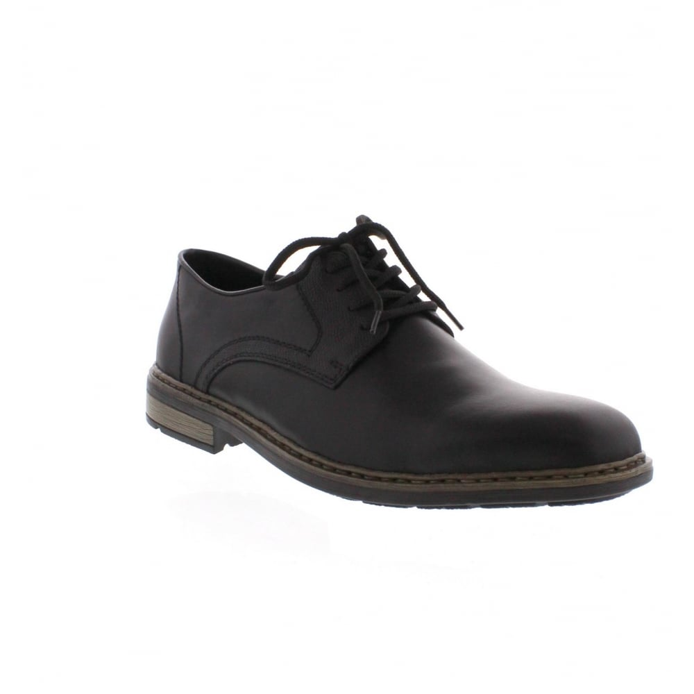 Black Wedge Lace Up Shoe Boots