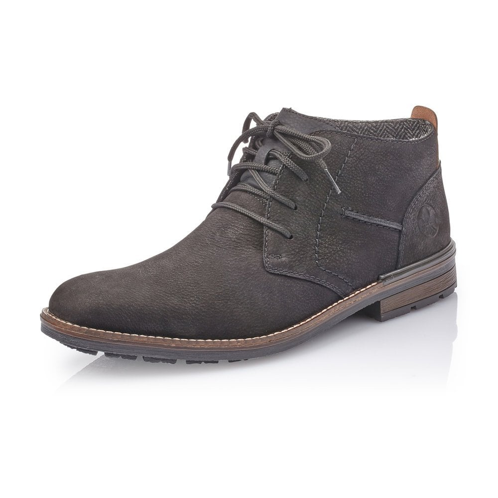 mens black leather lace up ankle boots