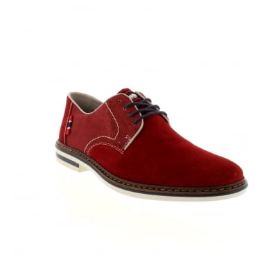 Rieker B1402-33 Mens Red Lace shoes