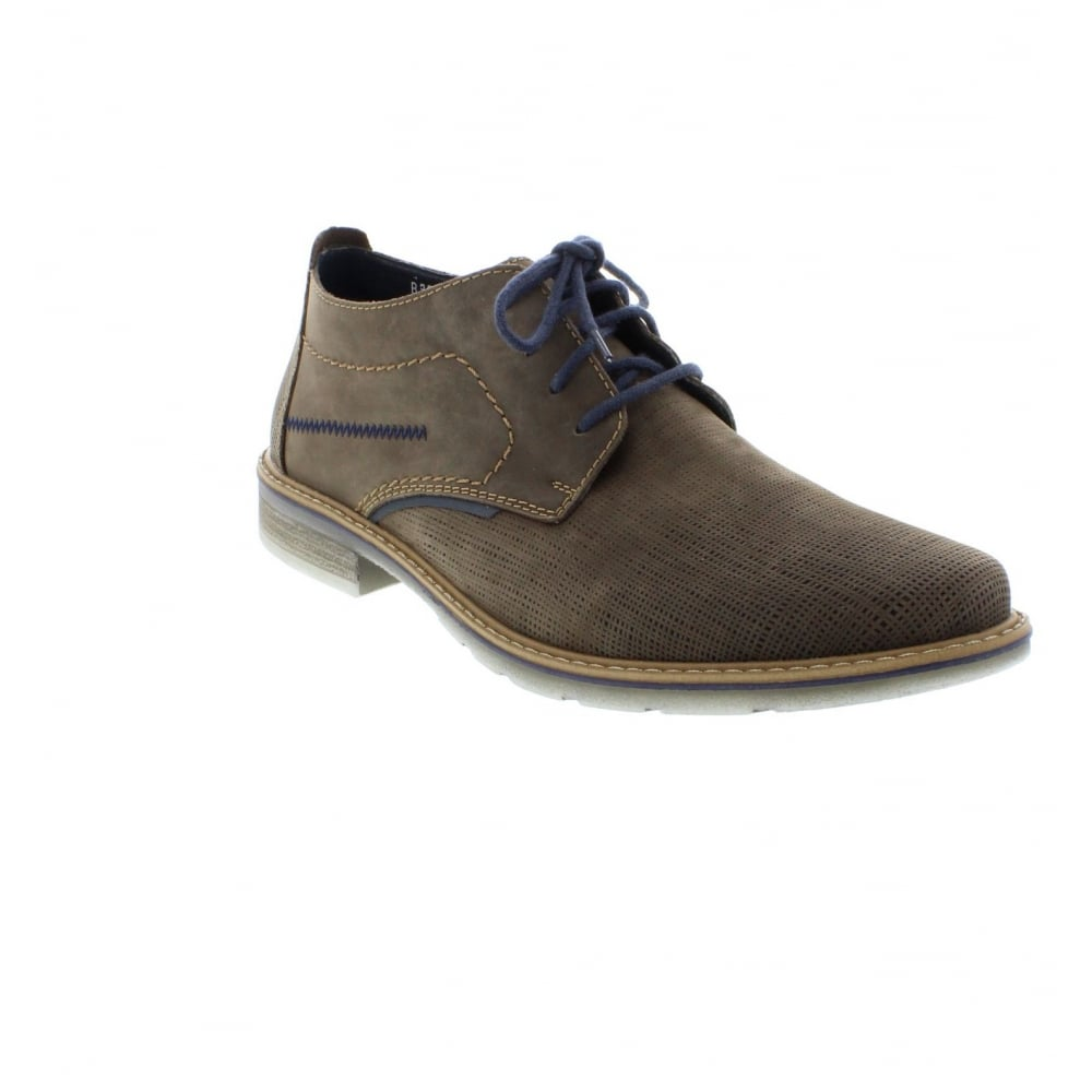 Rieker B3839 24 Mens Brown Lace Shoes Rieker Mens From