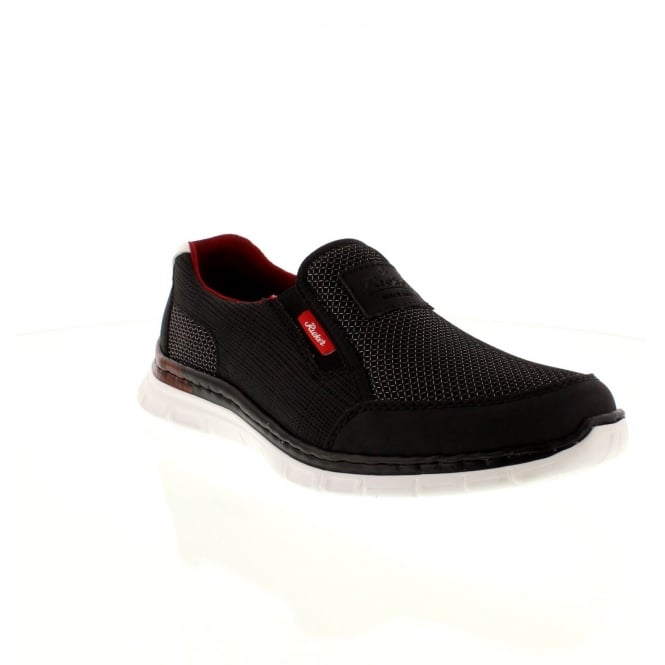 Rieker B4870-00 Mens Black Slip on shoes