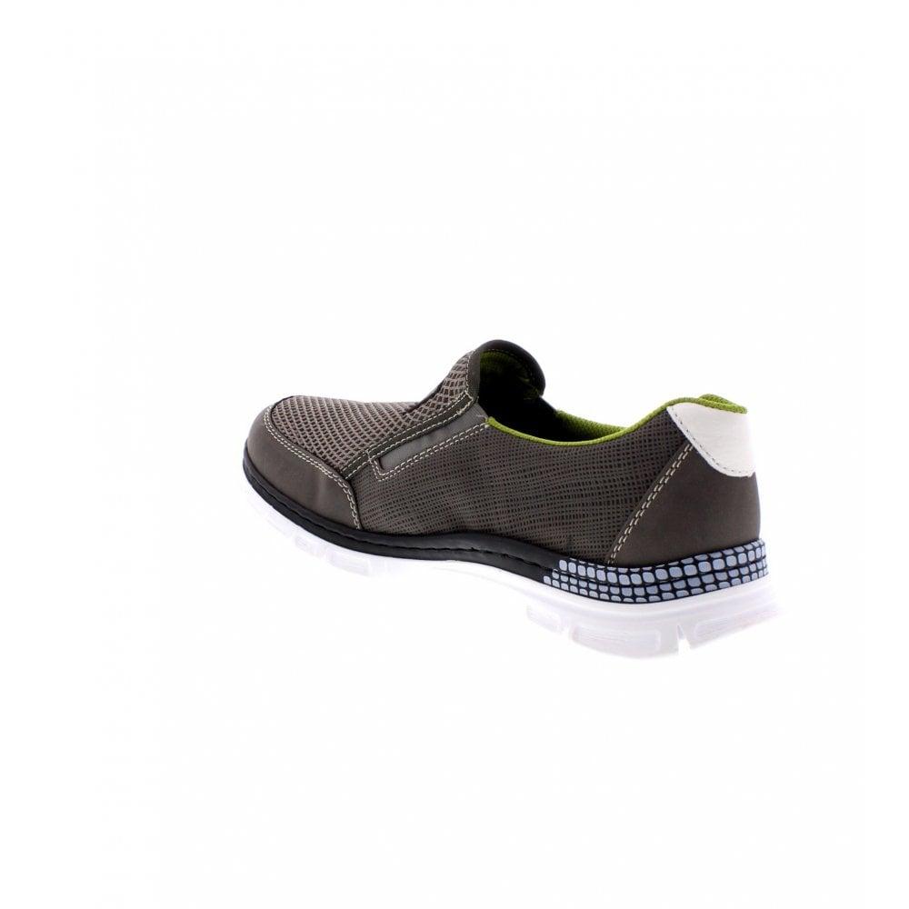 big sale 1619f 18eb3 B4870-44 Men's Grey Slip On Shoes