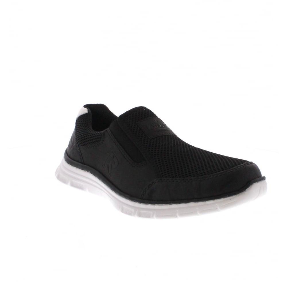 Rieker B4873-01 Mens black slip on