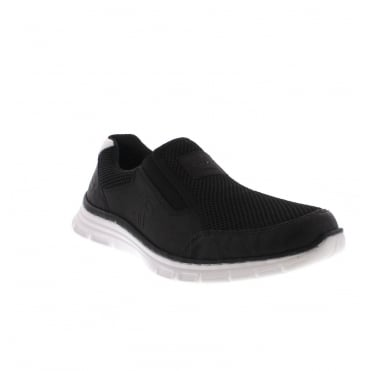 Rieker B4873-01 Mens Black Slip on Trainer