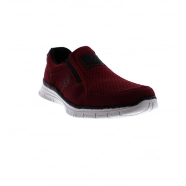 B4873-37 Men's Red Slip on shoes