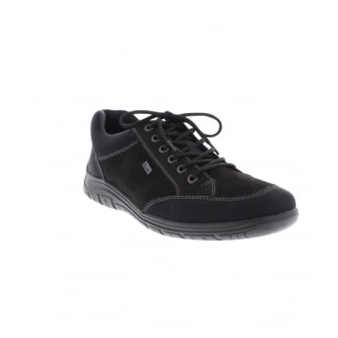 Rieker B6501-00 Mens Black Lace Up Shoe