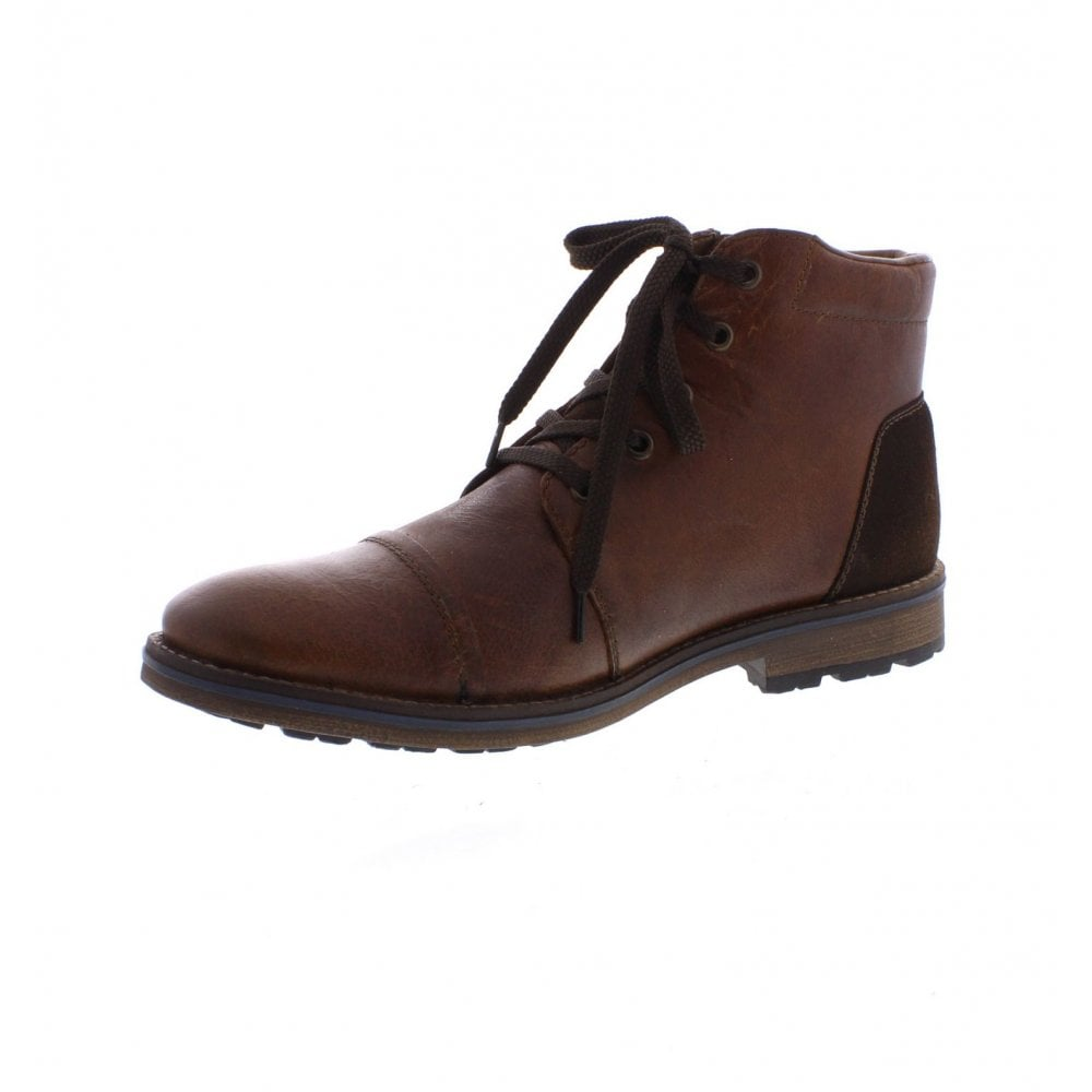 rieker f5530-25 mens brown ankle boots