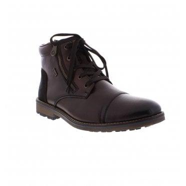 8224ef6073c3 Rieker F5530-26 Mens Dark Brown Ankle Boots