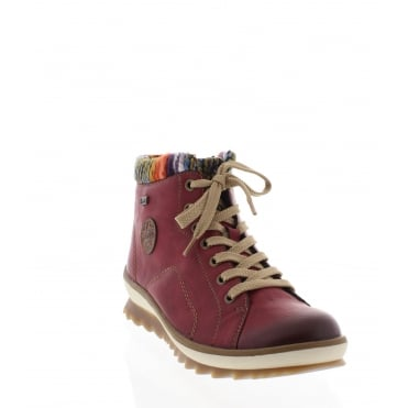 Rieker K4370-35 red combination Rieker 'Tex' ankle boot