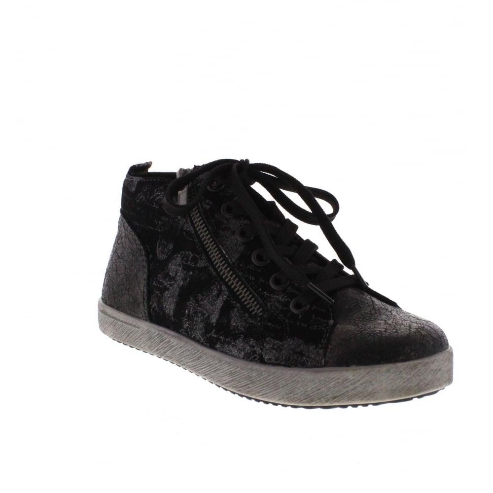 Rieker K5272-02 Black Combination Ankle Shoe